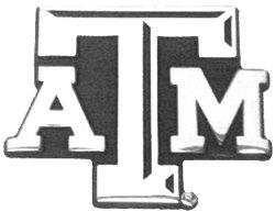 "Texas A&M Metal Auto Emblem - Modern ""Shadow"" Design"