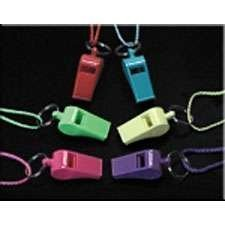 Neon Whistle Necklaces - 12 per unit