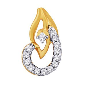 Sangini Diamond Pendant IDP00298 | Color Yellow