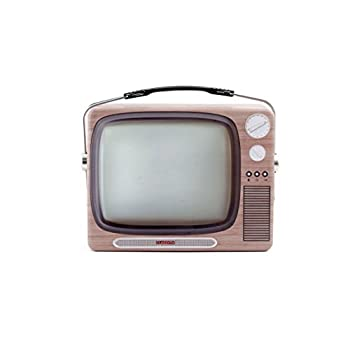 Kikkerland CU211TV TV Tin Lunch Box, Brown