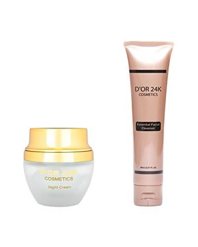 D'OR 24K Women's Bundle Set Night Cream+ Essential Cleanser, 1.7 fl oz 2.67 fl oz