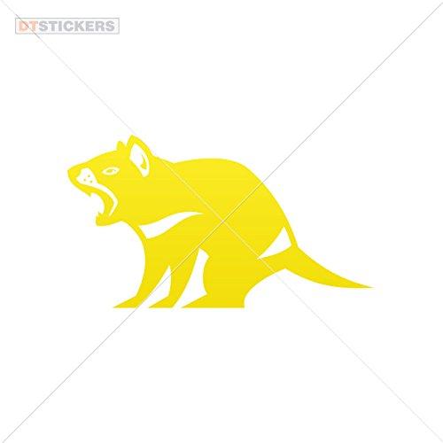 Decoration Vinyl Sticker Tasmanian Evil Decoration Motorbike kids penguin earth light (12 X 6,76 Inches) Yellow
