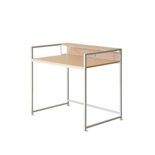 ナチュラル/デスク パソコンデスク PCデスク 勉強机 学習机 90cm幅 机 テーブル 収納 ラック付き ナチュラル パソコンラック シンプル モダン ホワイト ブラック