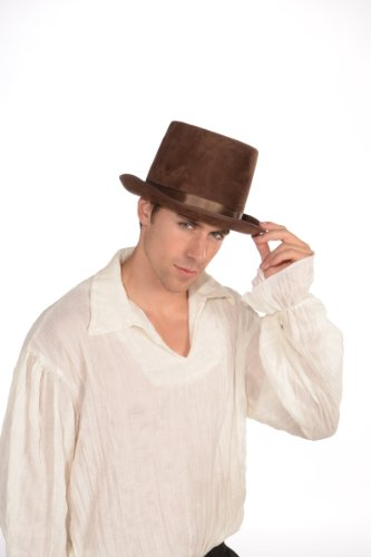 Steampunk Costume Top Hat Adult: Brown