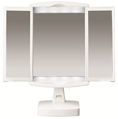 Best Cheap Deal for Conair Plastic LED Mirror with Doors, White Finish from Conair - Free 2 Day Shipping Available