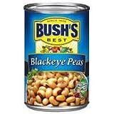 Bush's Blackeye Peas 15.5oz Cans (Pack of 6) (Plain)