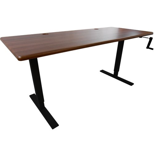 Thermodesk Ellure Manual Height-Adjustable Desk With Black Base