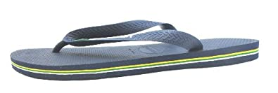Size 43/44 Havaianas Men's H Brasil Logo Synthetic Flip Flops