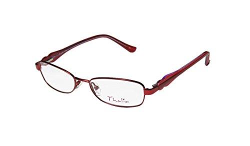 New & Season & Genuine - Brand: Thalia Style/model: Fiel Gender: Womens/Ladies Ophthalmic Gorgeous Designer Full-rim Spring Hinges Eyeglasses/Eyeglass Frame (47-15-125, Red) (Eyeglasses Insert compare prices)
