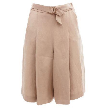 DRULTOK30794 Gonna pantalone da donna coloe beige misto lino Beige 44