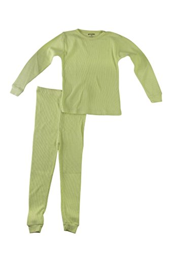Better Wear Girls Thermal Underwear Set 6X Lime Green (Thermal Girls compare prices)