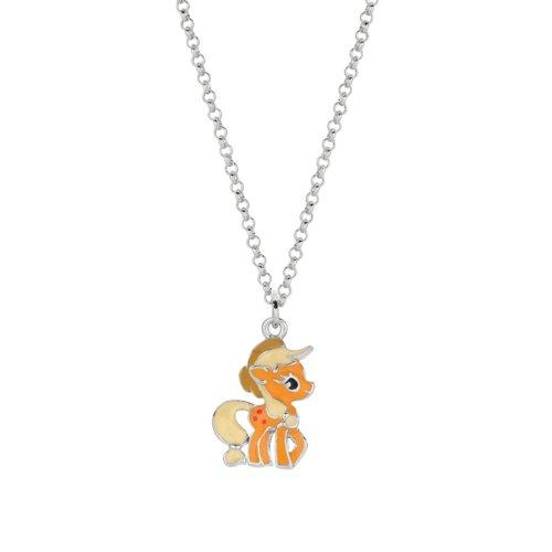 Fine silver plated applejack my little pony pendant necklace aloadofball Gallery