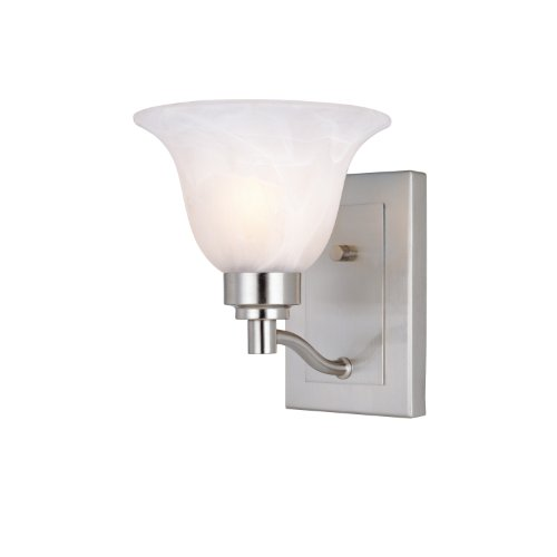Westinghouse 6664700 Churchville Wall Sconce, Brushed Nickel