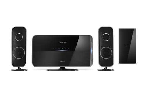 Philips HTS5220 2.1 Blu-ray Heimkino-System (3D, USB 2.0, HDMI 1.4 ARC, 400 W, DLNA, DivX-Ultra, MKV, WiFi ready) schwarz