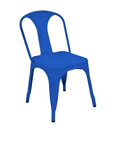 Three Hands Metal Chair, Blue