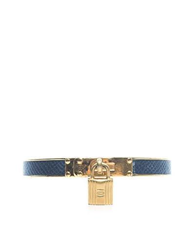 Hermès Black Leather Kelly Bangle Bracelet