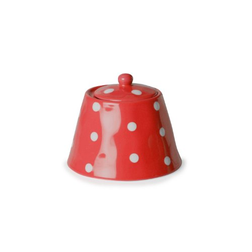 Maxwell And Williams Sprinkle Sugar Bowl, Red