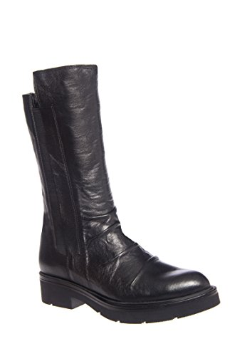 F1512 Casual Low Heel Mid Calf Boot