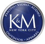 K&amp;M Camera Logo for Photo Video and Pro Audio