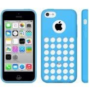 Hollow Dot TPU Case for iPhone 5C (Blue)