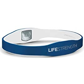 Lifestrength Ionic Healthy Wristband Negative Ion infused Sleep Oxygen Energy (Blue, Medium)