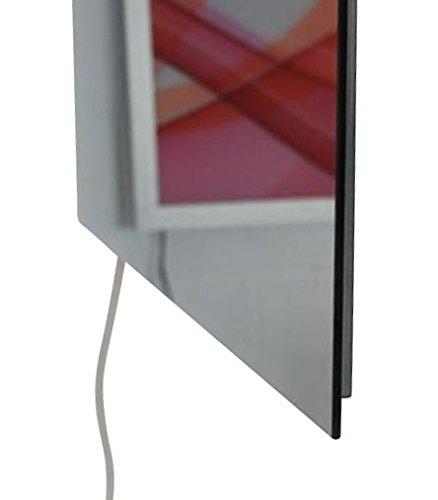 infrarotheizung spiegel rahmenlos spiegelheizung 700 watt 120x60x2 5cm spar baumarkt. Black Bedroom Furniture Sets. Home Design Ideas