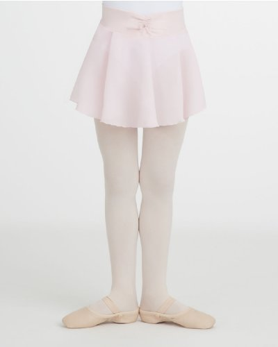 Capezio Little Girls' Pull-On Georgette Skirt, Pink, Toddler front-992939