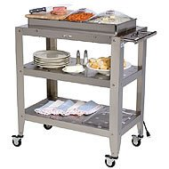 Cheap Broil King Family Size Triple Buffet Warming Cart with Three Individual Lids (B002XTBQSG)