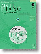 1 adult adventure book cd in lesson one piano