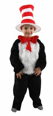 Elope 198712 Dr. Seuss Cat in Hat Toddler- Child Costume Size:s (4-6)