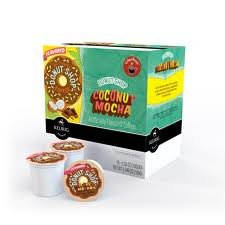 Coffee People Donut Shop Flavored Coconut Mocha 1 Box Of 18 K-cups