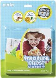 Perler Fun Fusion Fuse Bead Activity Kit Treasure Chest; 3 Items/Order