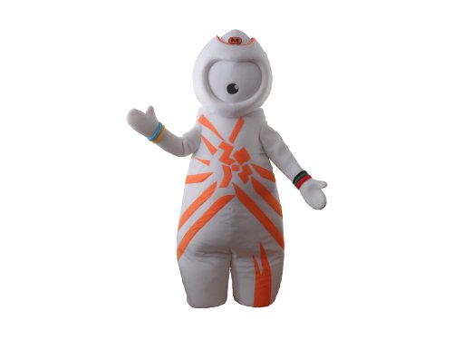 Olympic Games Wenlock Mascot Costumes Fancy Dress Halloween Party Adult Size Suit