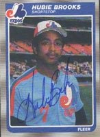 Hubie Brooks Montreal Expos 1985 Fleer Autographed Hand Signed Trading Card. by Hall+of+Fame+Memorabilia