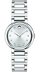 Movado Women's 0606789 Concerto Stainless Steel Watch with Diamonds