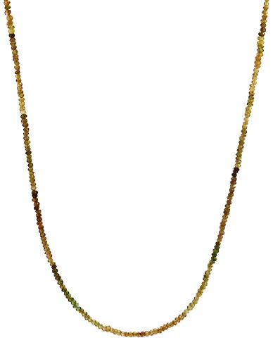 Petro Tourmaline Rondelle with 14K Gold Spring Ring Clasp Necklace, 16