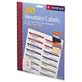 Smead Manufacturing Company Products - Viewable Labeling System Labels, 160/PK, White - Sold as 1 PK - Label refill is designed for use with the Smead Viewables Labeling System. Labels are specially designed for patented three-sided hanging folder and file folder tabs. The labeled tab allows you to read the label from the front, top or back. When used on folders with tabs in the same position, a continuous line of color is created for faster filing and retrieval. Color breaks your system into sm