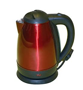 Quest Red 1.7 Litre Stainless 950w Cordless Kettle. from Quest Leisure