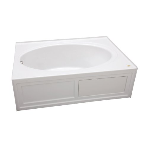 Jacuzzi G150959WH Nova 5 Acrylic 60-Inch by 42-Inch by 18-1/2-Inch Soaking Bath with Integral Skirt and Tile Flange, White Finish