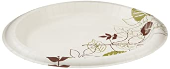 "Dixie Ultra SXP10PATH Pathways Heavy Weight Paper Plate, 10.12"" Diameter (4 Packs of 125)"