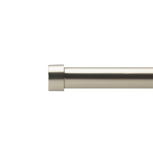 Umbra Cappa 72-Inch to 144-Inch Drapery Rod, Nickel (Curtain Rod Brushed Nickle compare prices)