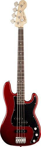 Squier By Fender Affinity P/J Bass Guitar, Rosewood Fingerboard, Metallic Red