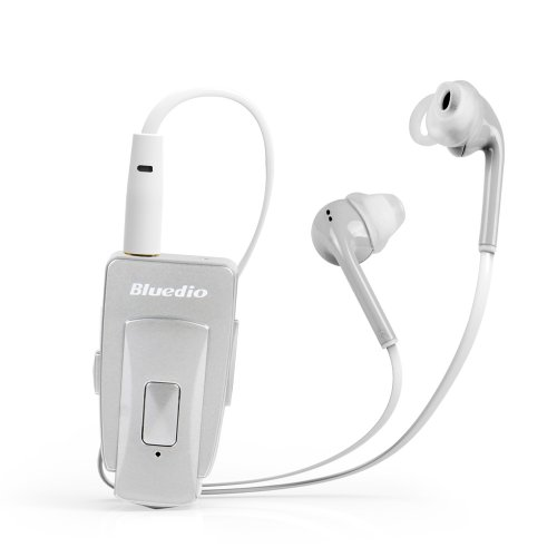 Bluedio Eh Bluetooth Stereo Headset/In-Ear Earphones Bluetooth 4.0 Nfc Wireless Headset High-Quality Music Streaming World First Release 2014 Retail Gift Packaging (Noble Silver)
