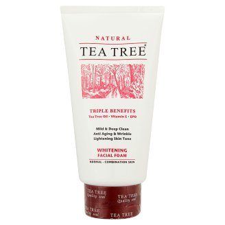 Tea Tree Normal - Combination Skin Whitening Facial Foam Triple Benefits Tea Tree Oil, Vitamin E, Epo 140G Product Of Thailand