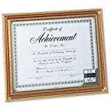 DAX Antique Colored Document Frame with Certificate, Metal, 8-1/2 x 11, Gold (N1818N1T)