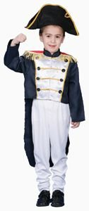 Pretend Colonial General Child Costume Dress-Up Set Size 16-18