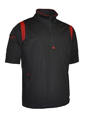Glenmuir Mens Zip Neck Half Sleeve Panel Golf Windshirt by Glenmuir