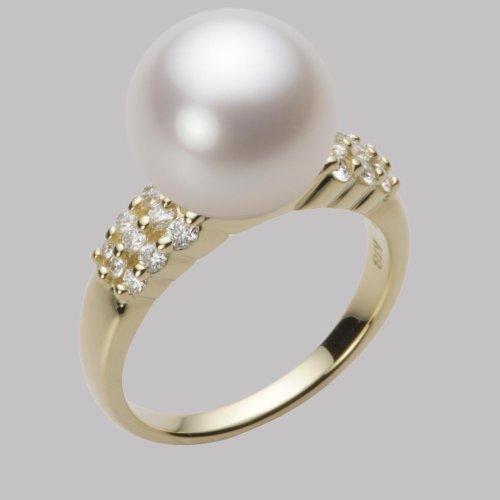 11mm白蝶真珠リング(ホワイト)