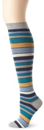 Pact Women S San Francisco Stripe Knee Sock Multi Colored