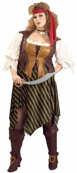 Women's Plus Size Pirate Wench Halloween Costume